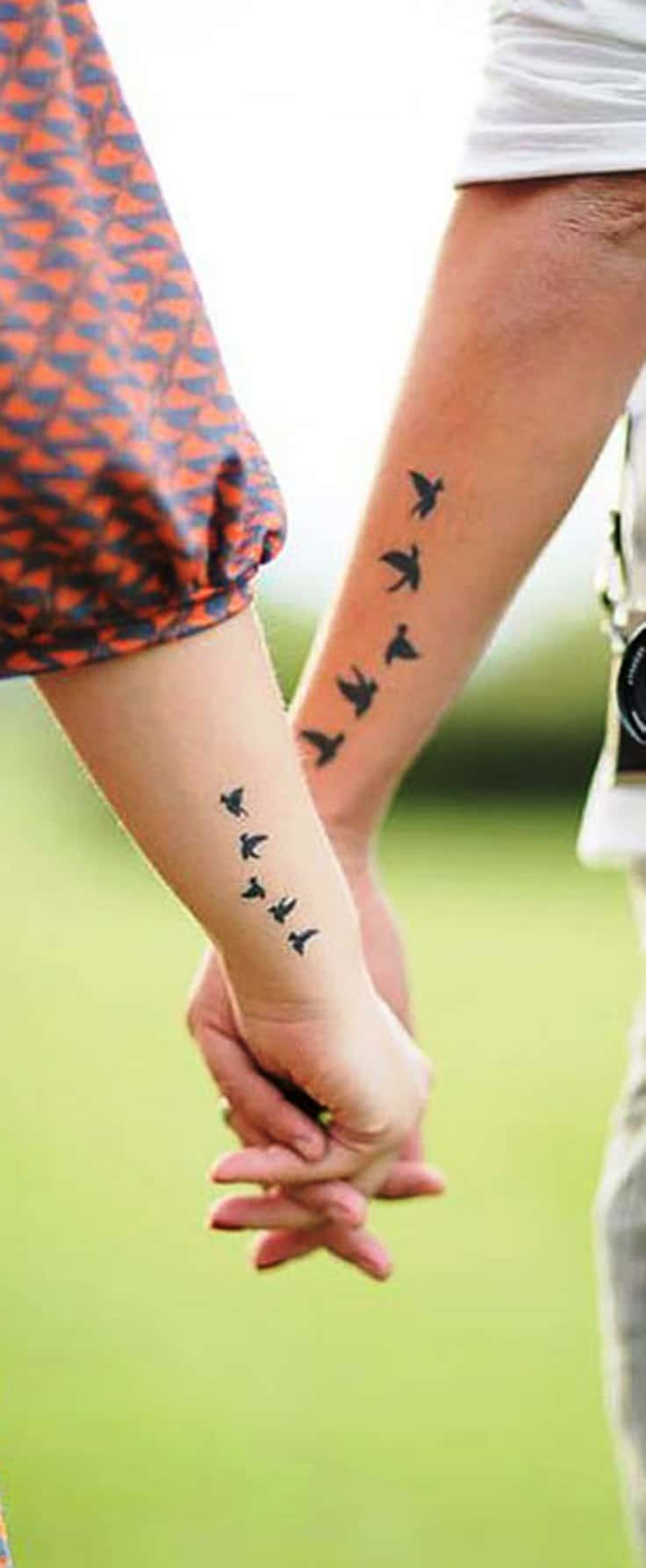 Birds of a feather wedding tattoo idea