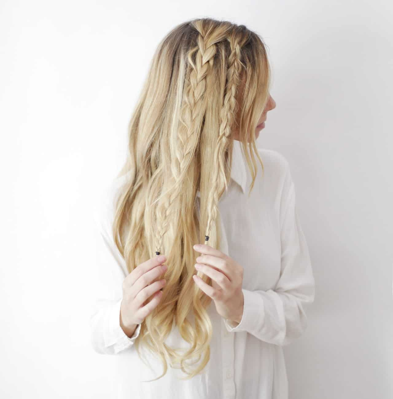 Boho braids hair tutorial
