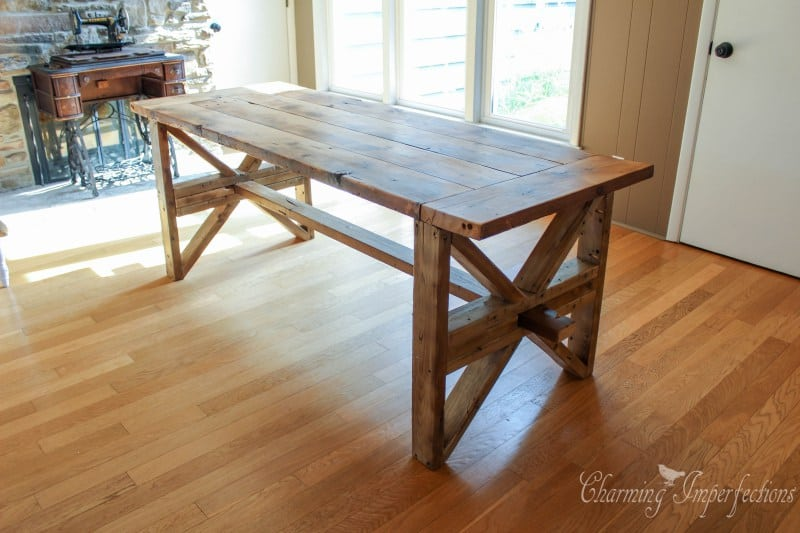 Contry flavored farmhouse diy table