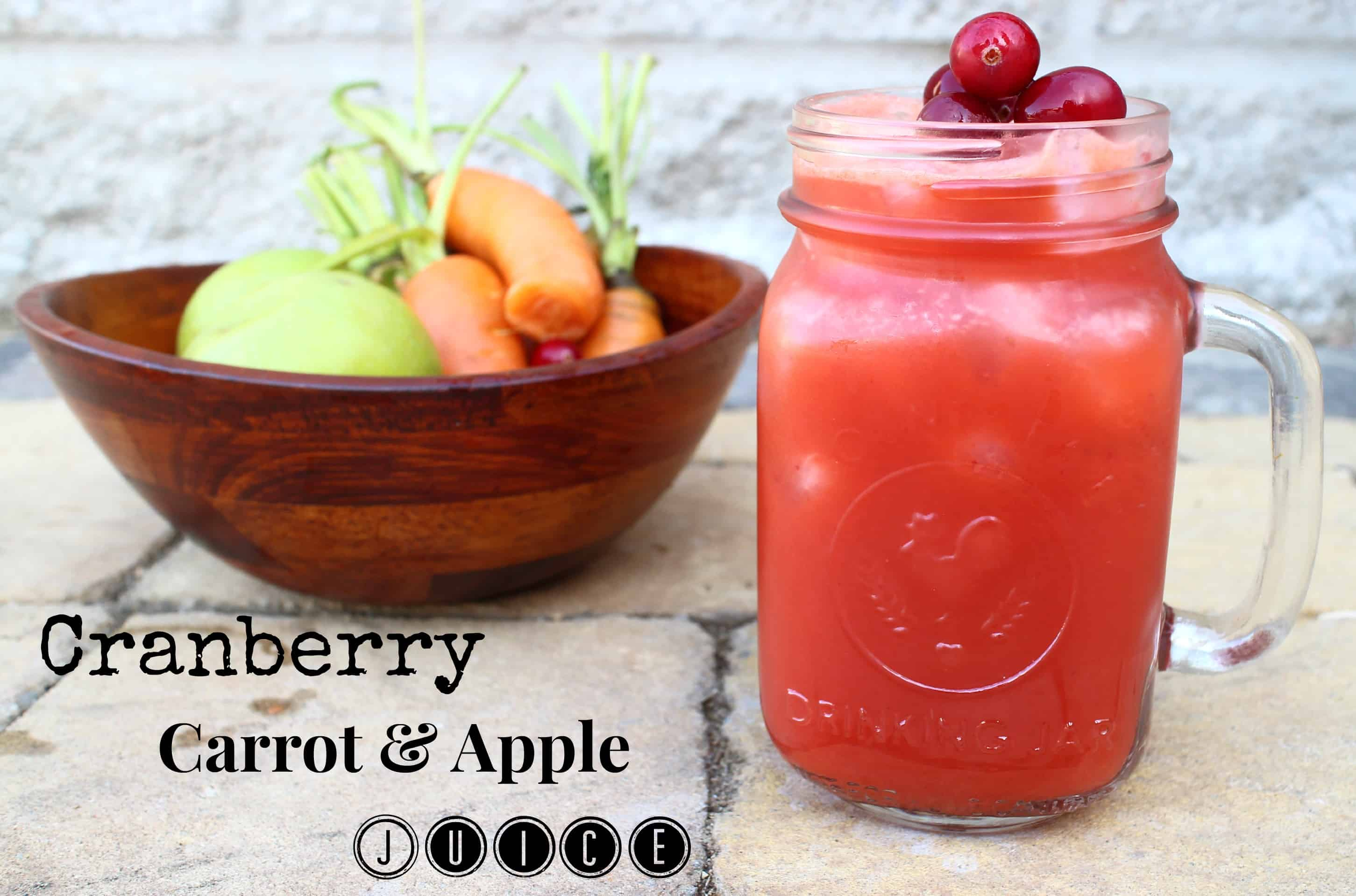 Cranberry carrot apple juicer recipe