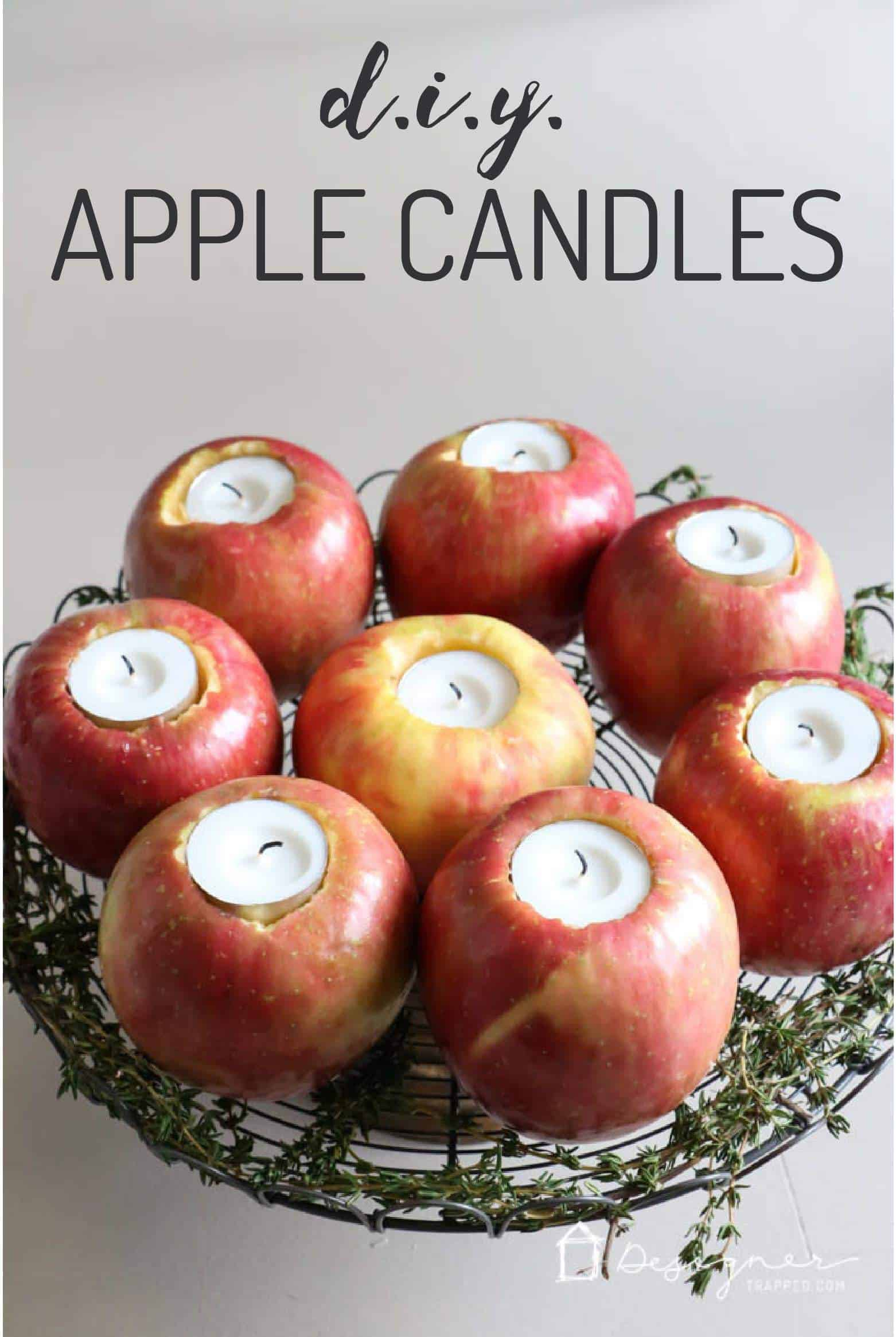 Diy apple candles
