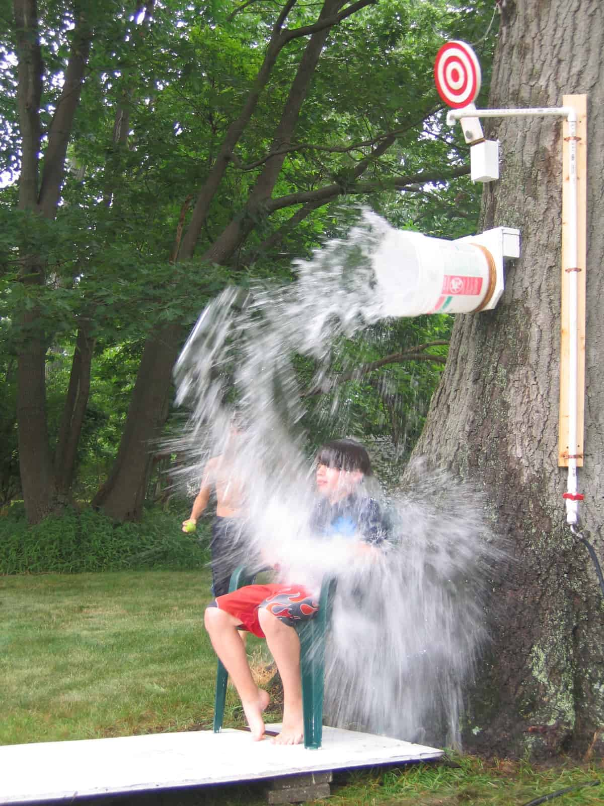 Diy backyard dunk tank