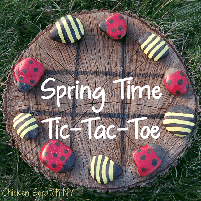 Diy backyard tic tac toe game