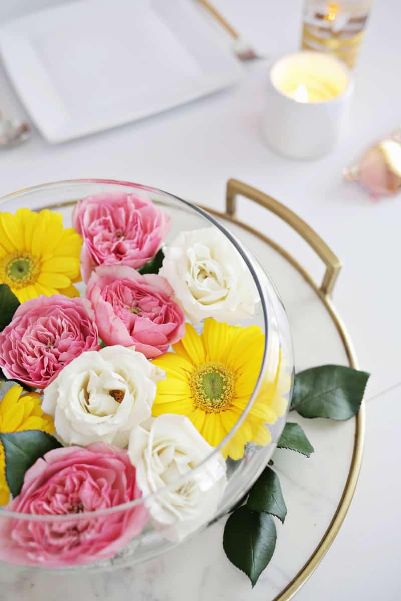 Diy floating floral centerepice