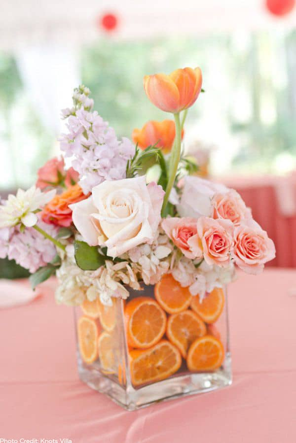 Diy fruit wedding centerpiece