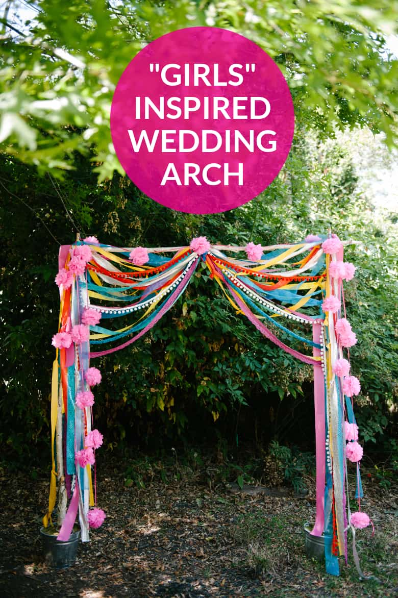 Diy girls inspired wedding arch
