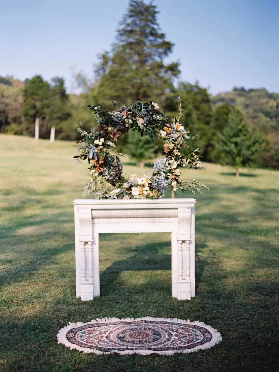 Diy mantle wedding arch