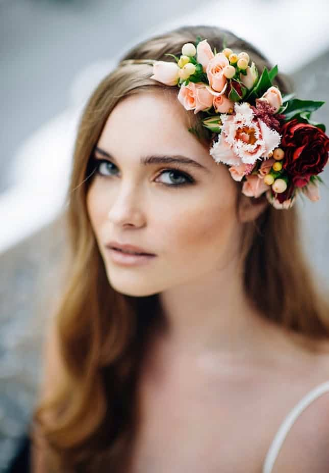 Diy partial flower crown