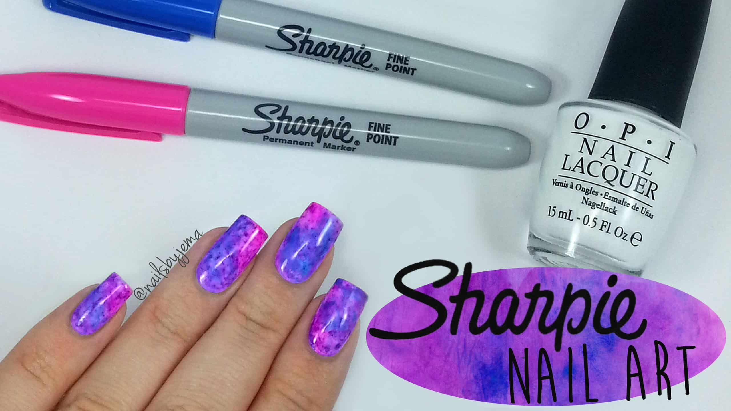 Diy sharpie nail art