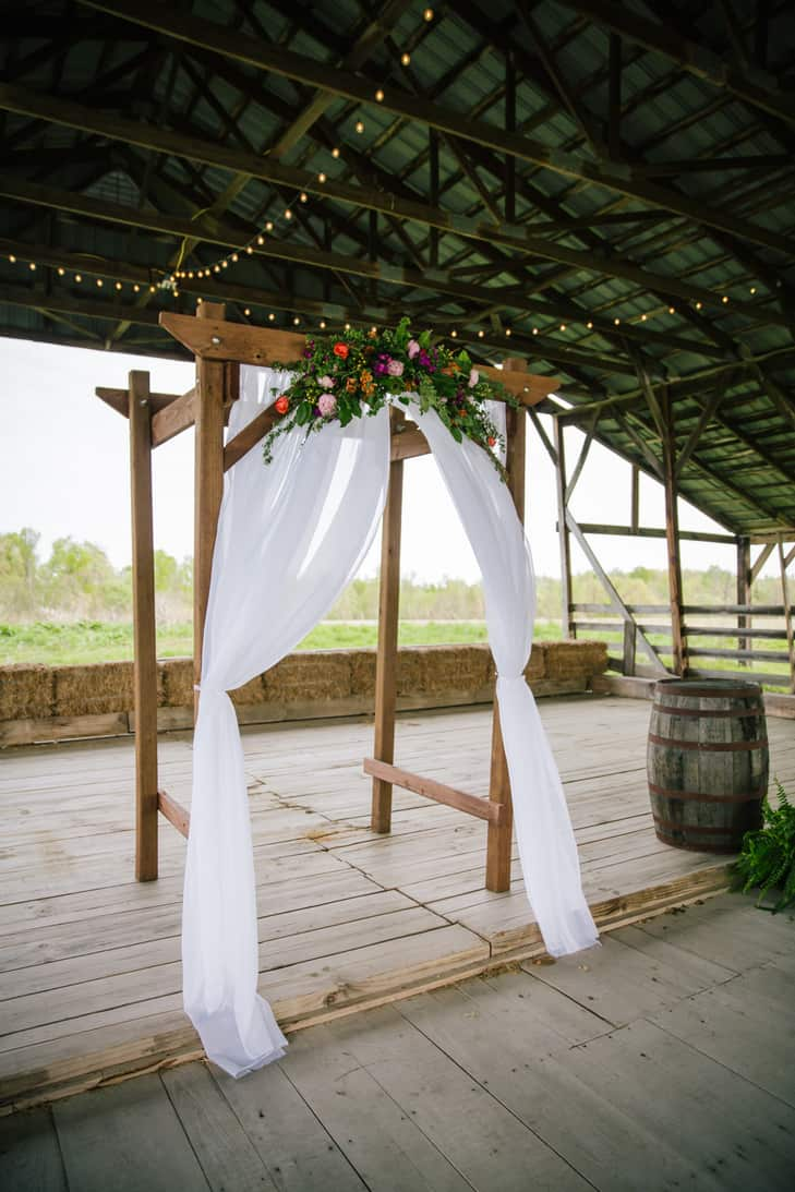 Diy wooden wedding arch