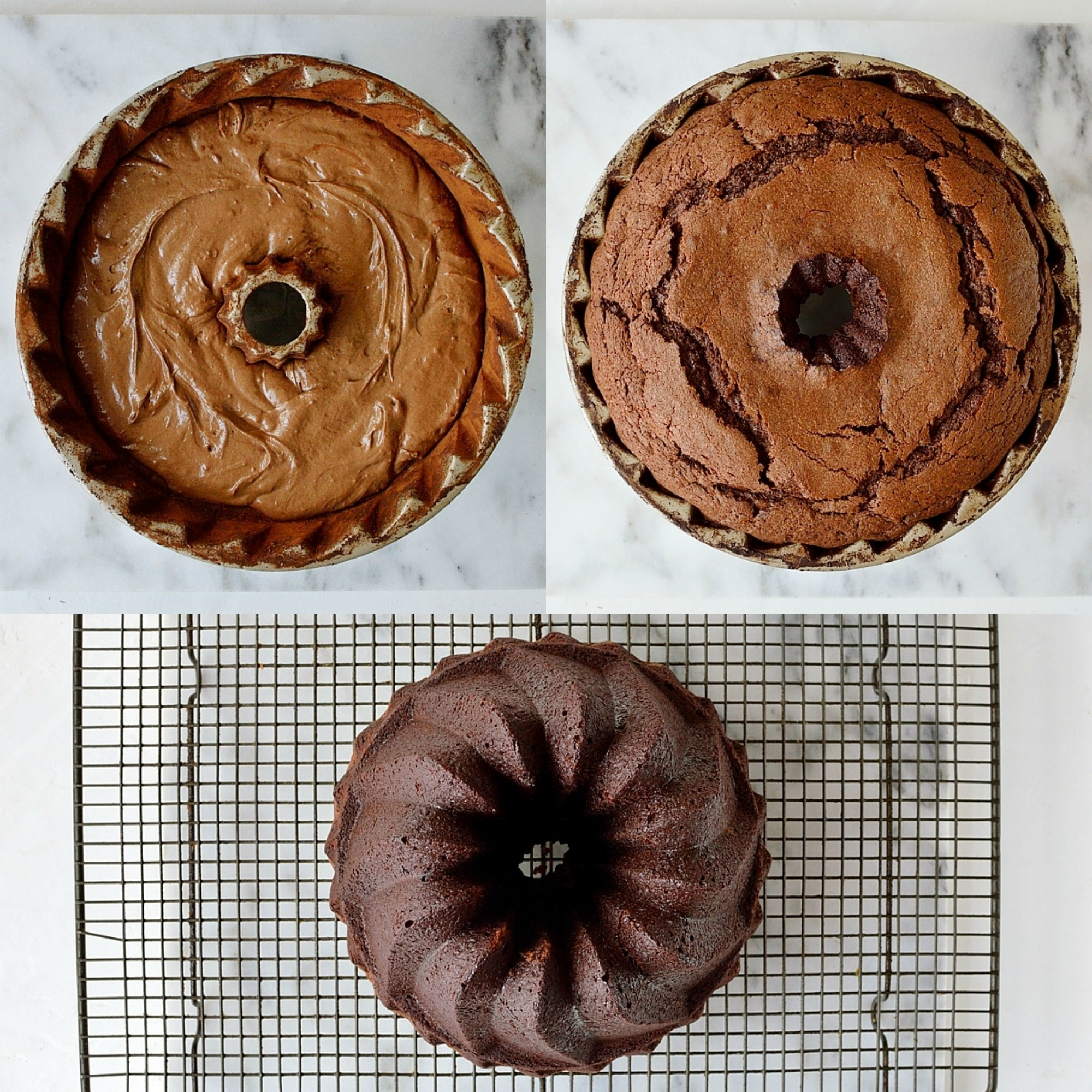 Double chocolate bundt cake step 6