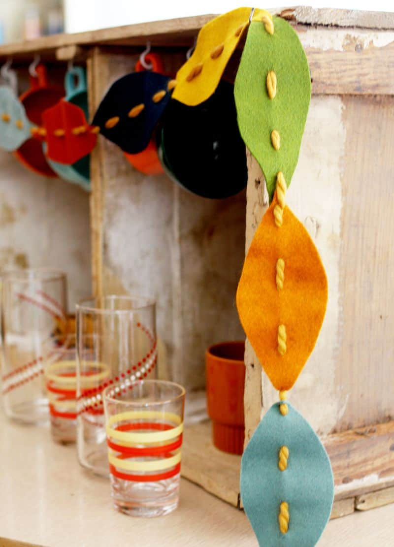 Fall leaves garland diy