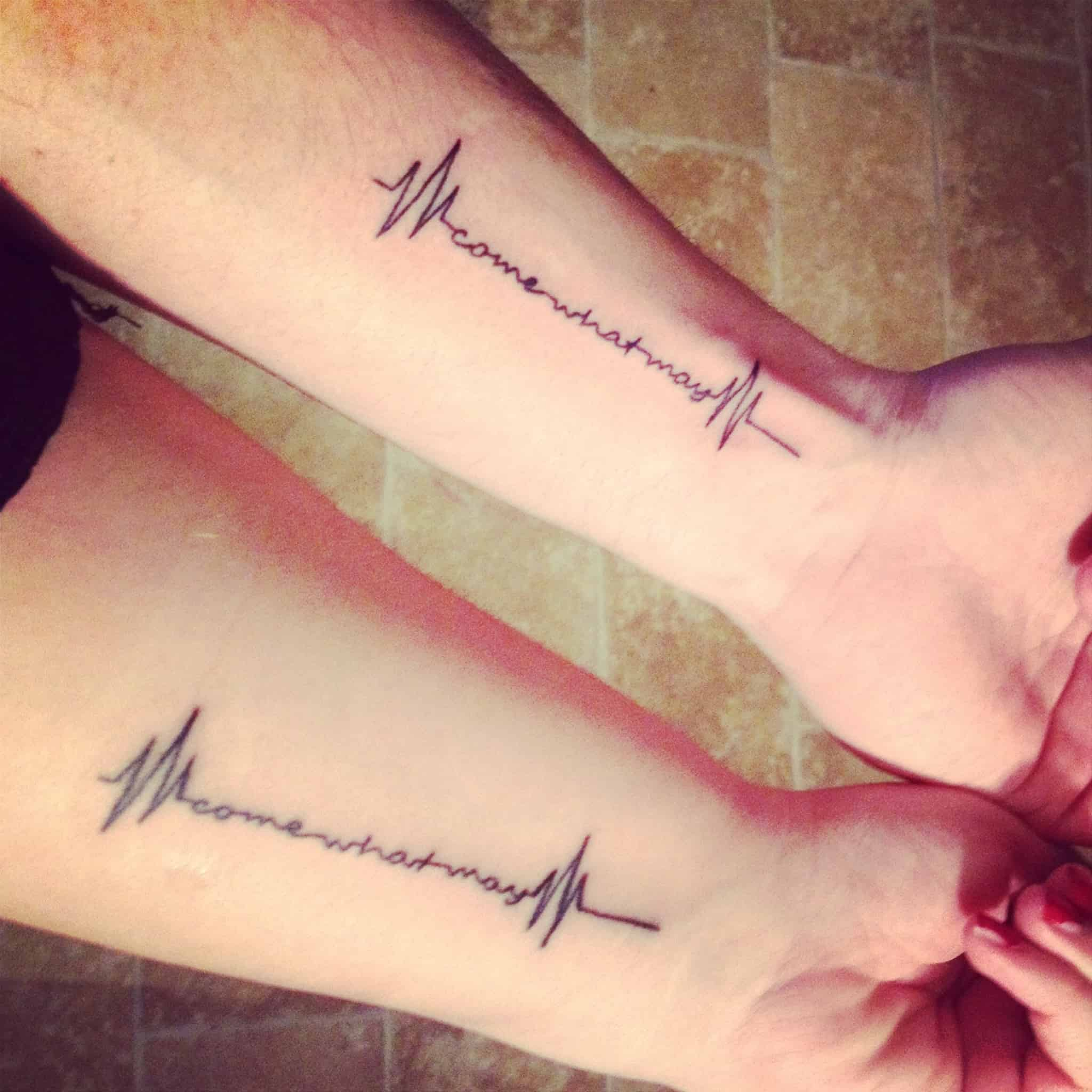 Heartbeat tattoo wedding idea