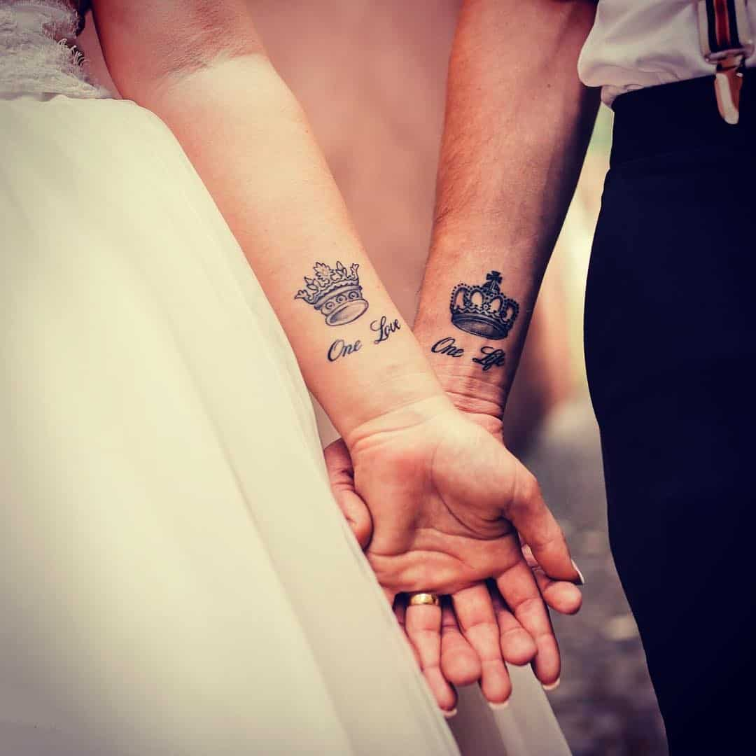 King and queen wedding tattoos diy