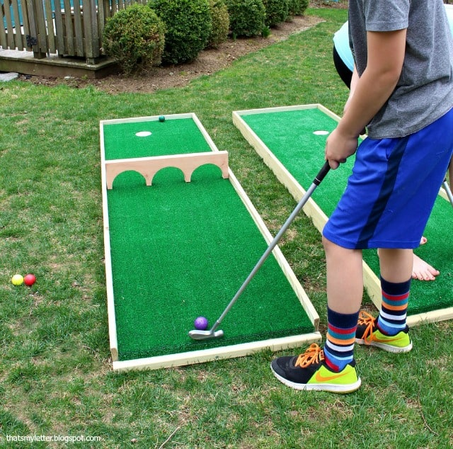 Mini putt course diy backyard game
