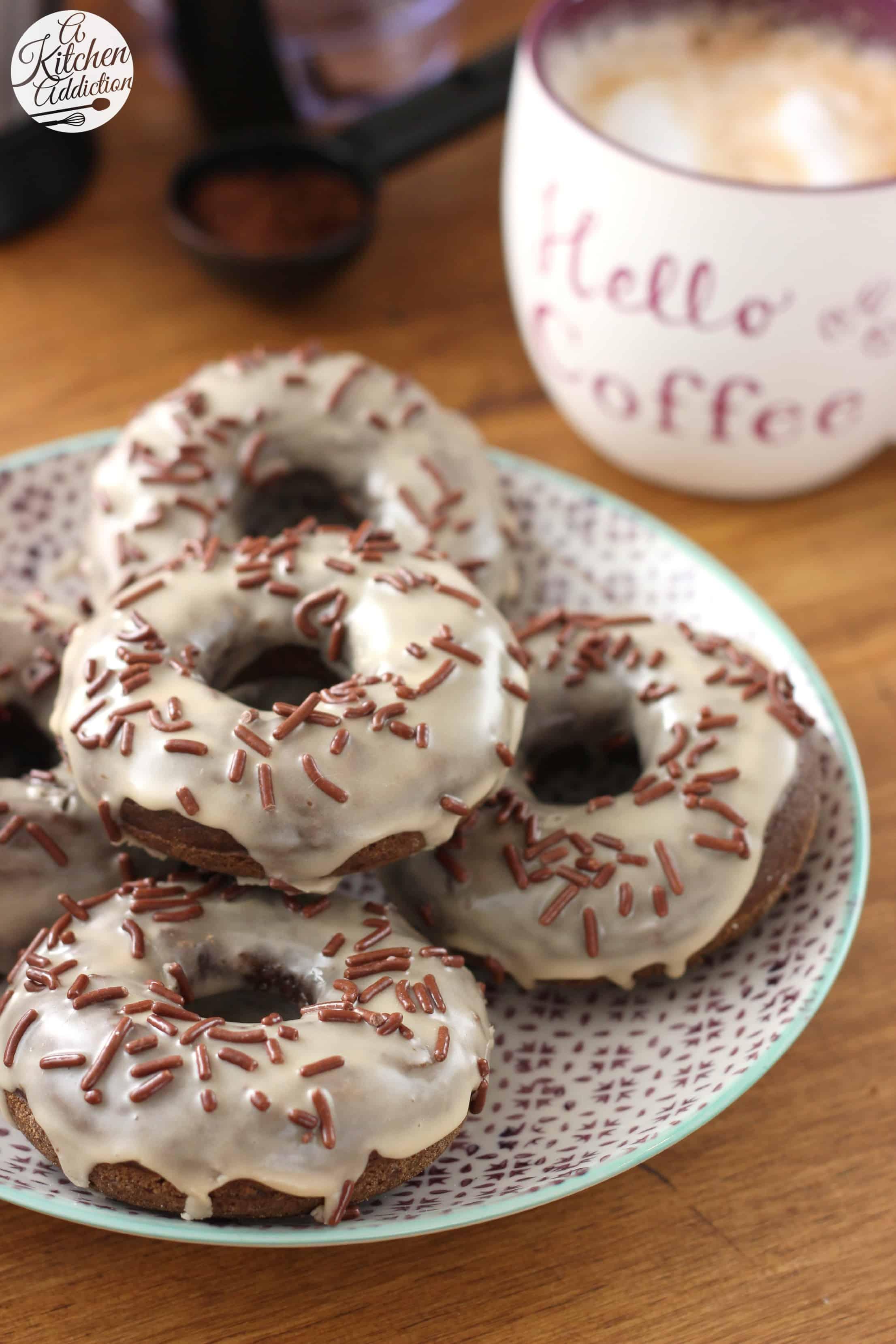 Mocha chip donuts