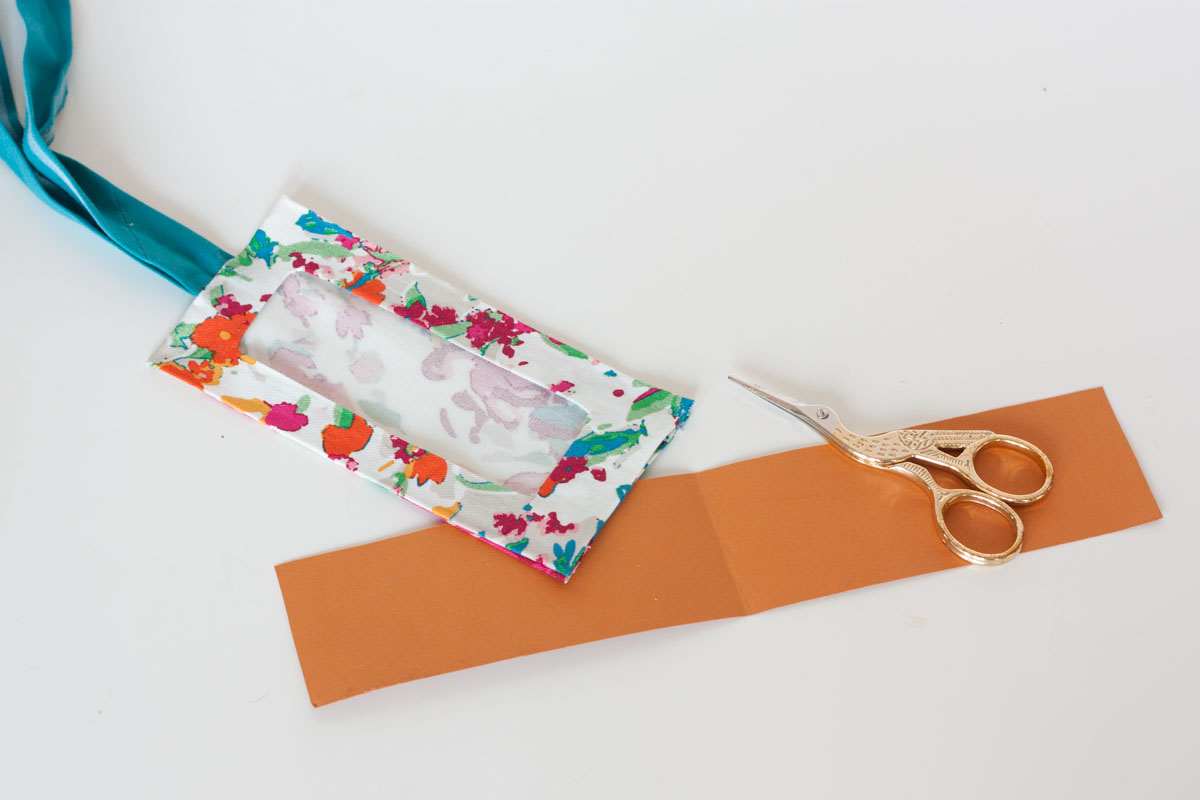 No sew diy luggage tag cardboard