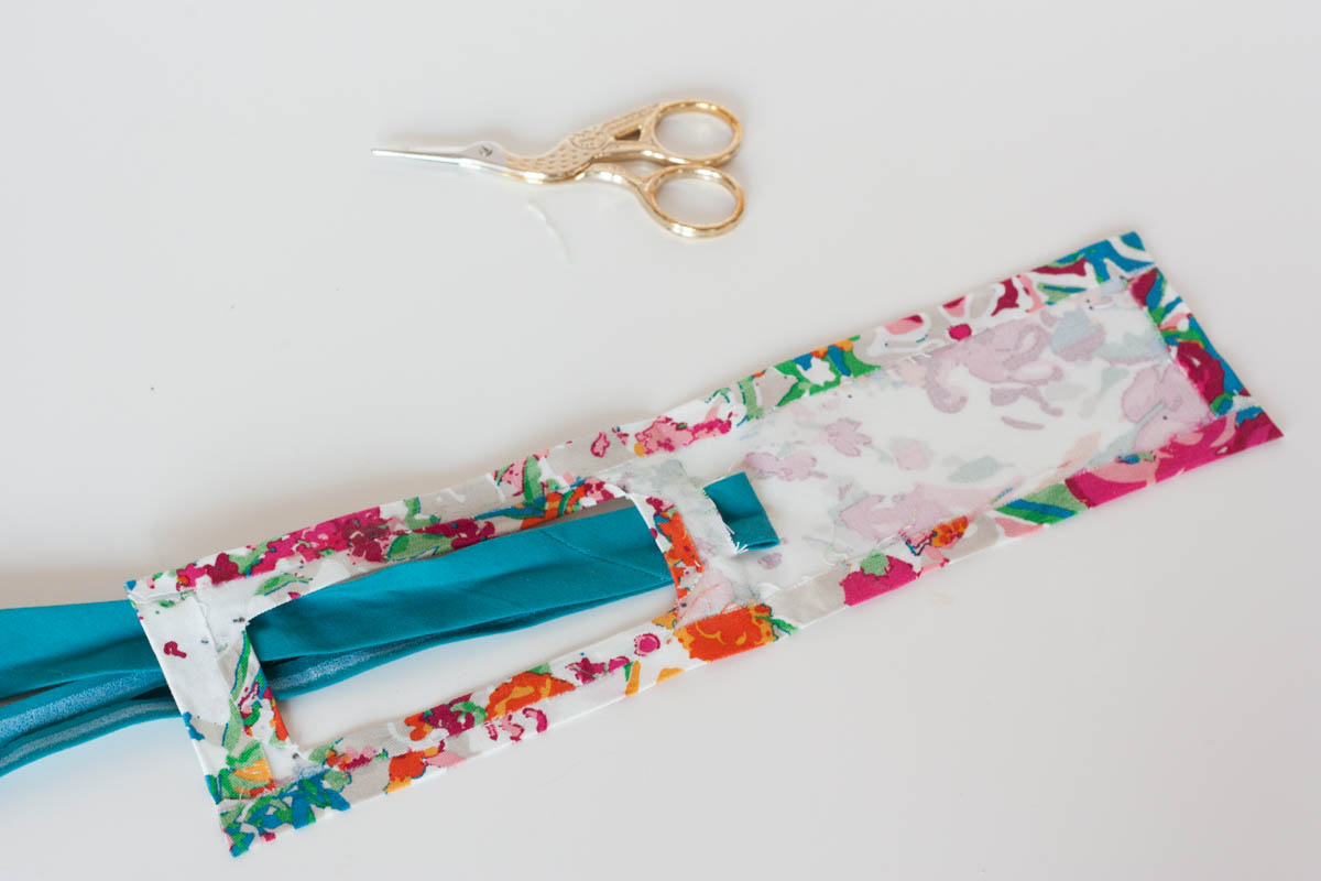 No sew diy luggage tag lace