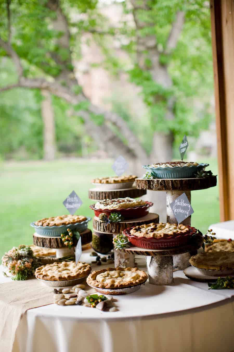 Pie sweet table