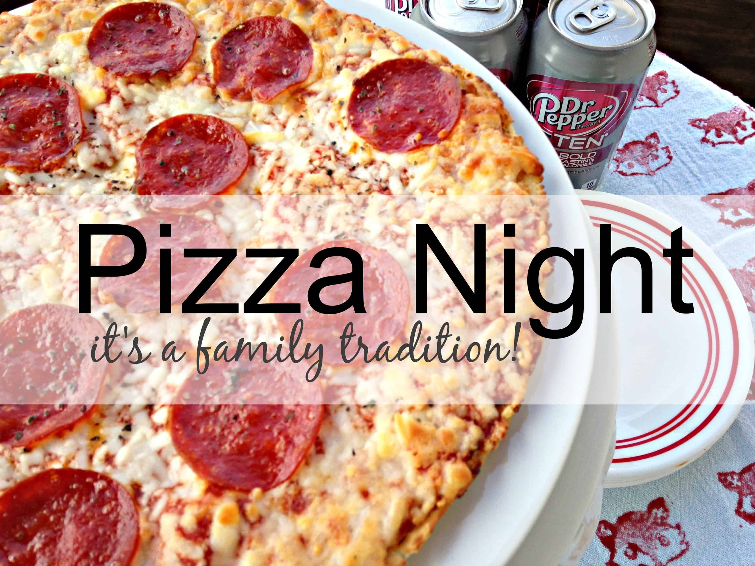 Pizza night with the family