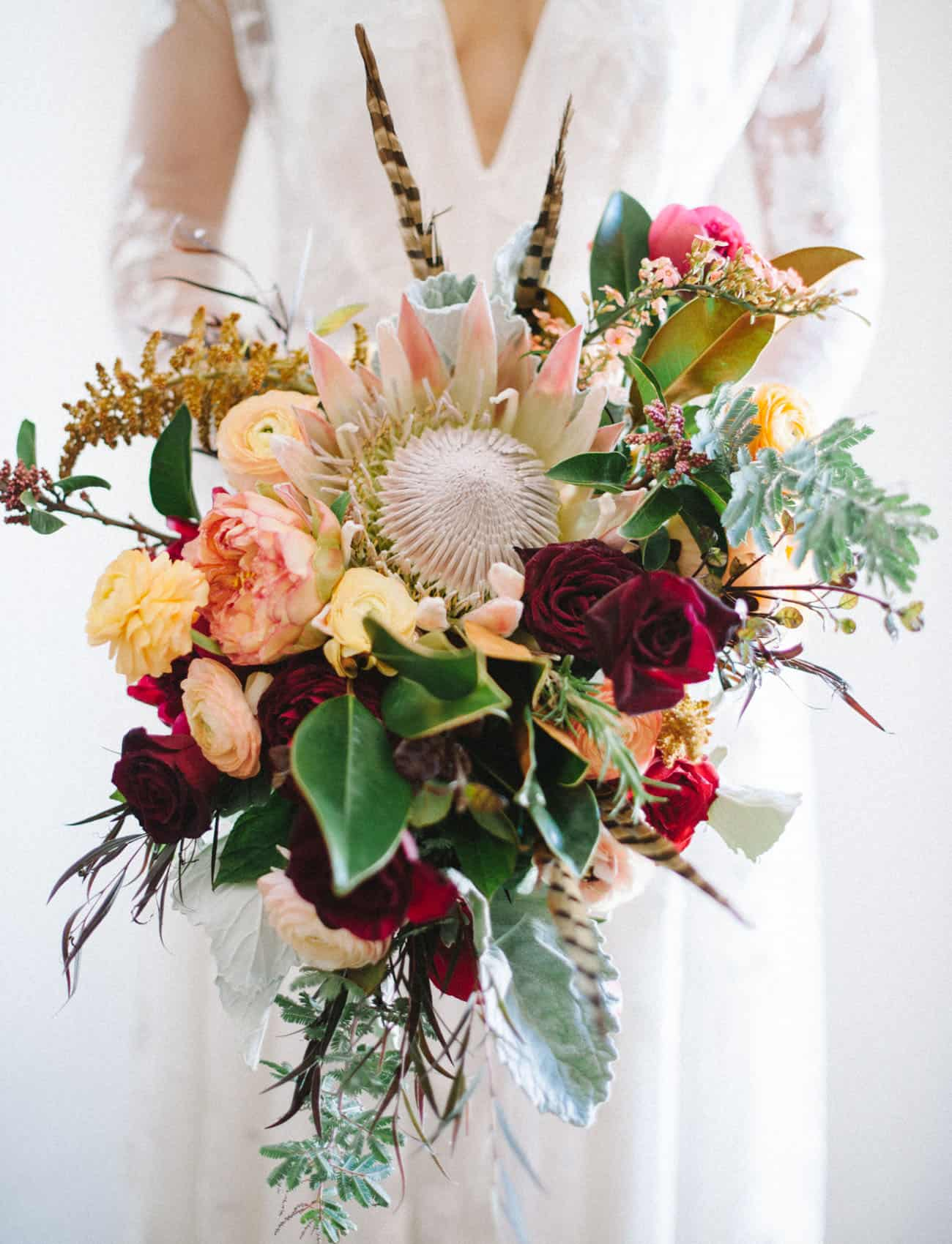 Protea bouquet diy