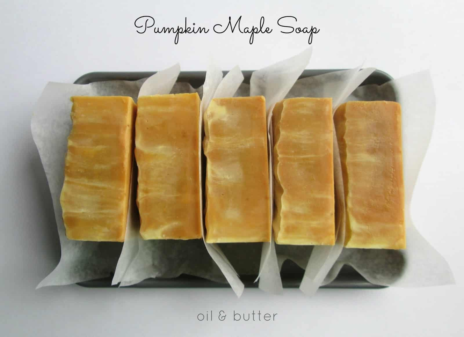 Pumpkin maple soap bar favor diy