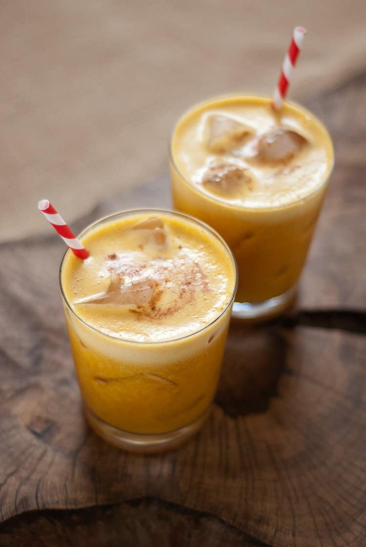 Pumpkin pineapple rum cocktail