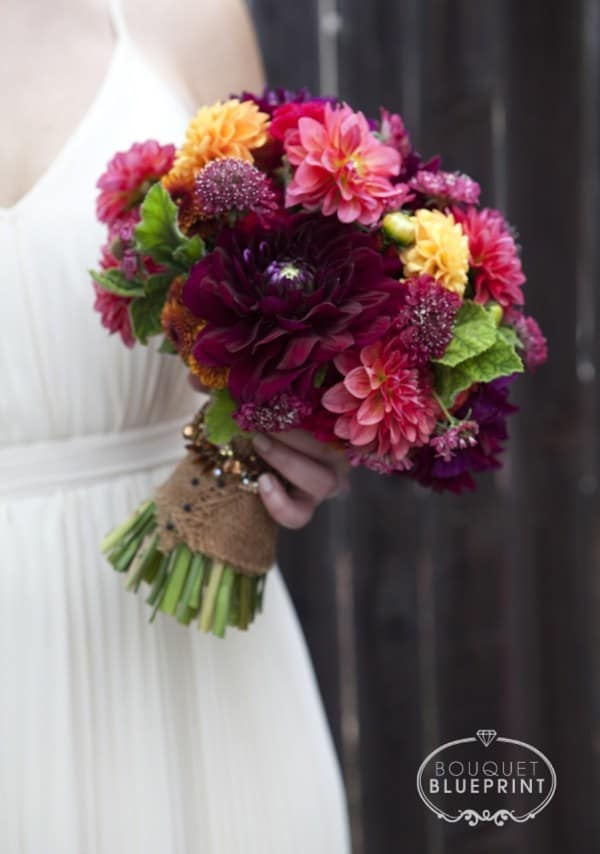 Rich diy fall wedding bouquet