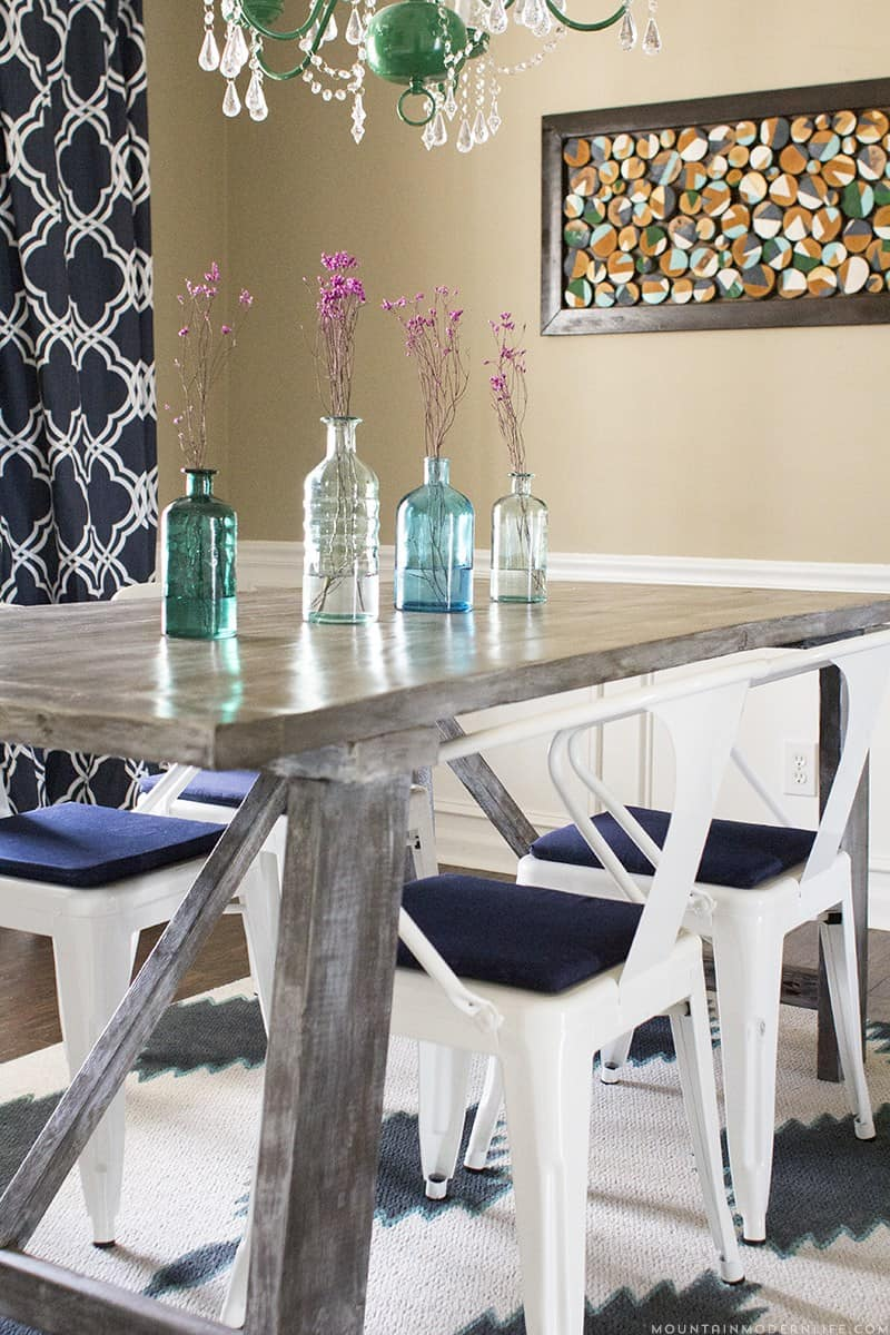 Rustic farmhouse dining table diy mountainmodernlife com
