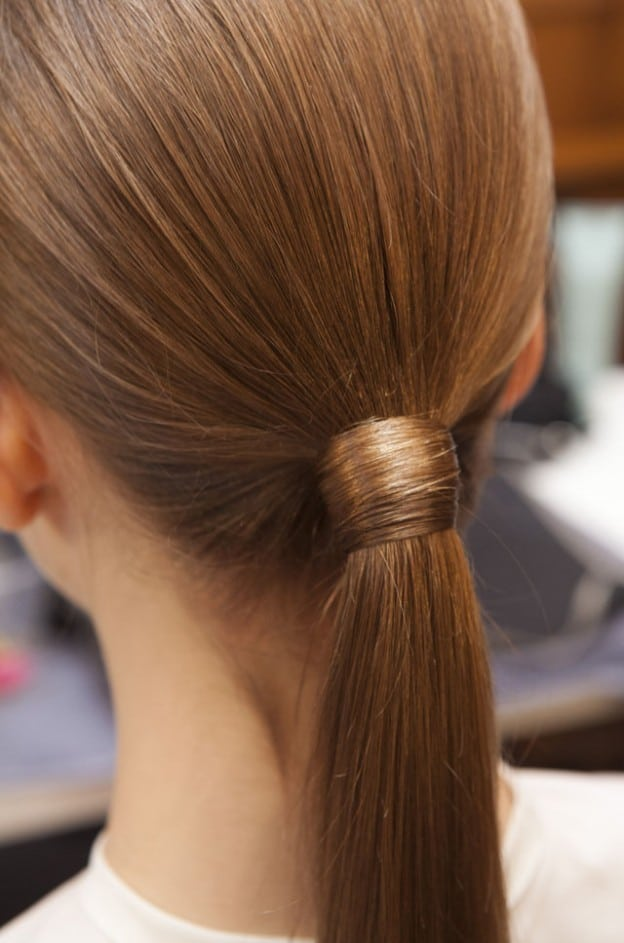 Sleek ponytail hair