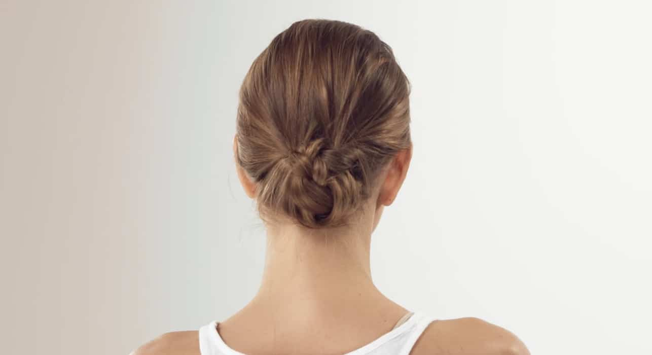Textural low bun tutorial