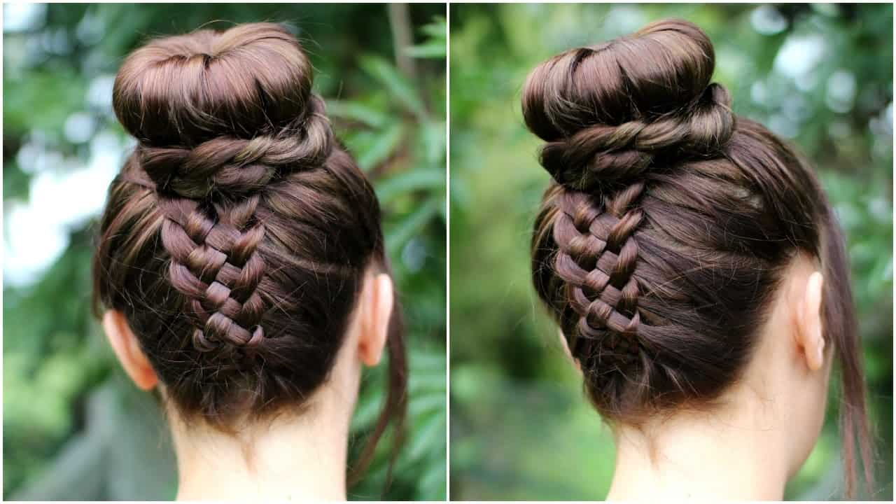 Upside down braid tutorial