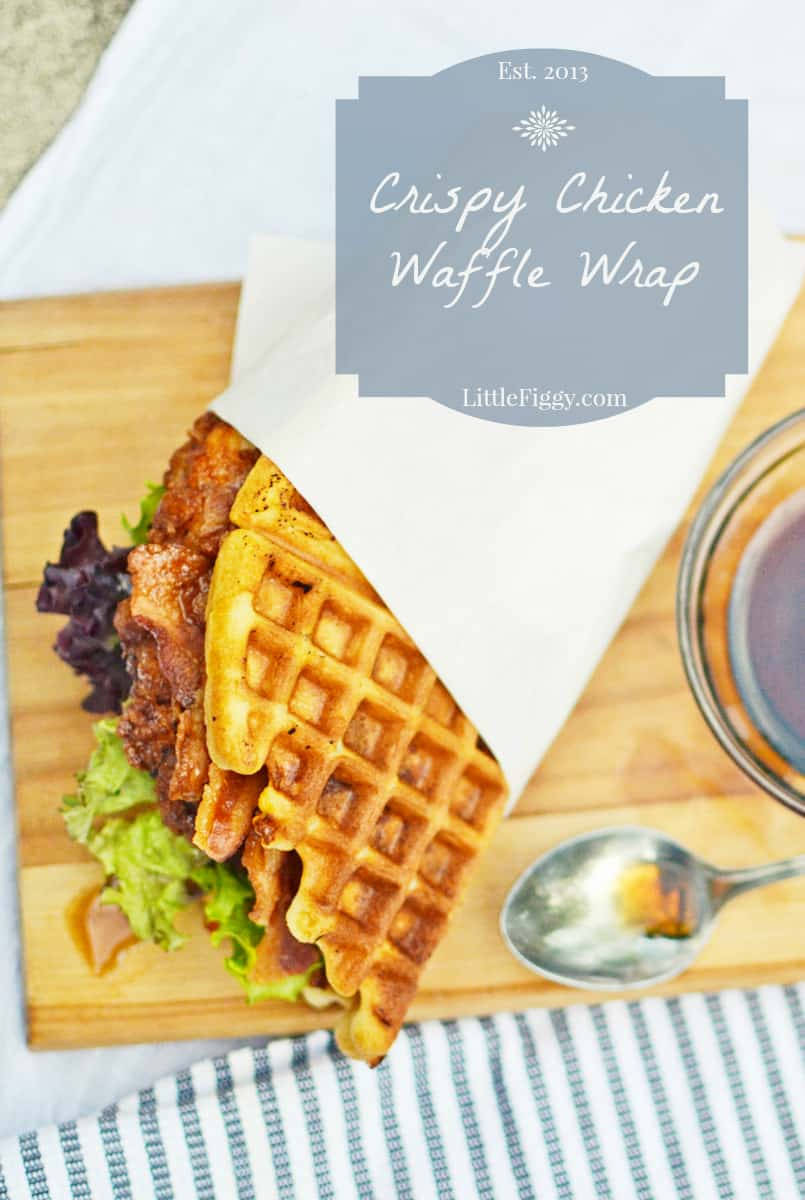 Waffle chicken wrap