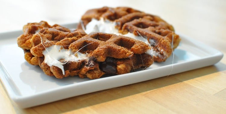 Waffle iron smores