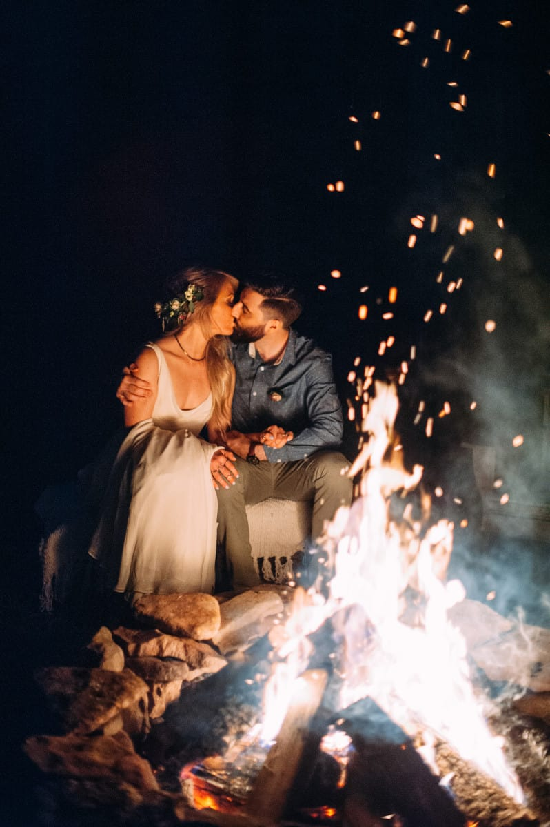 Wedding day bonfire idea