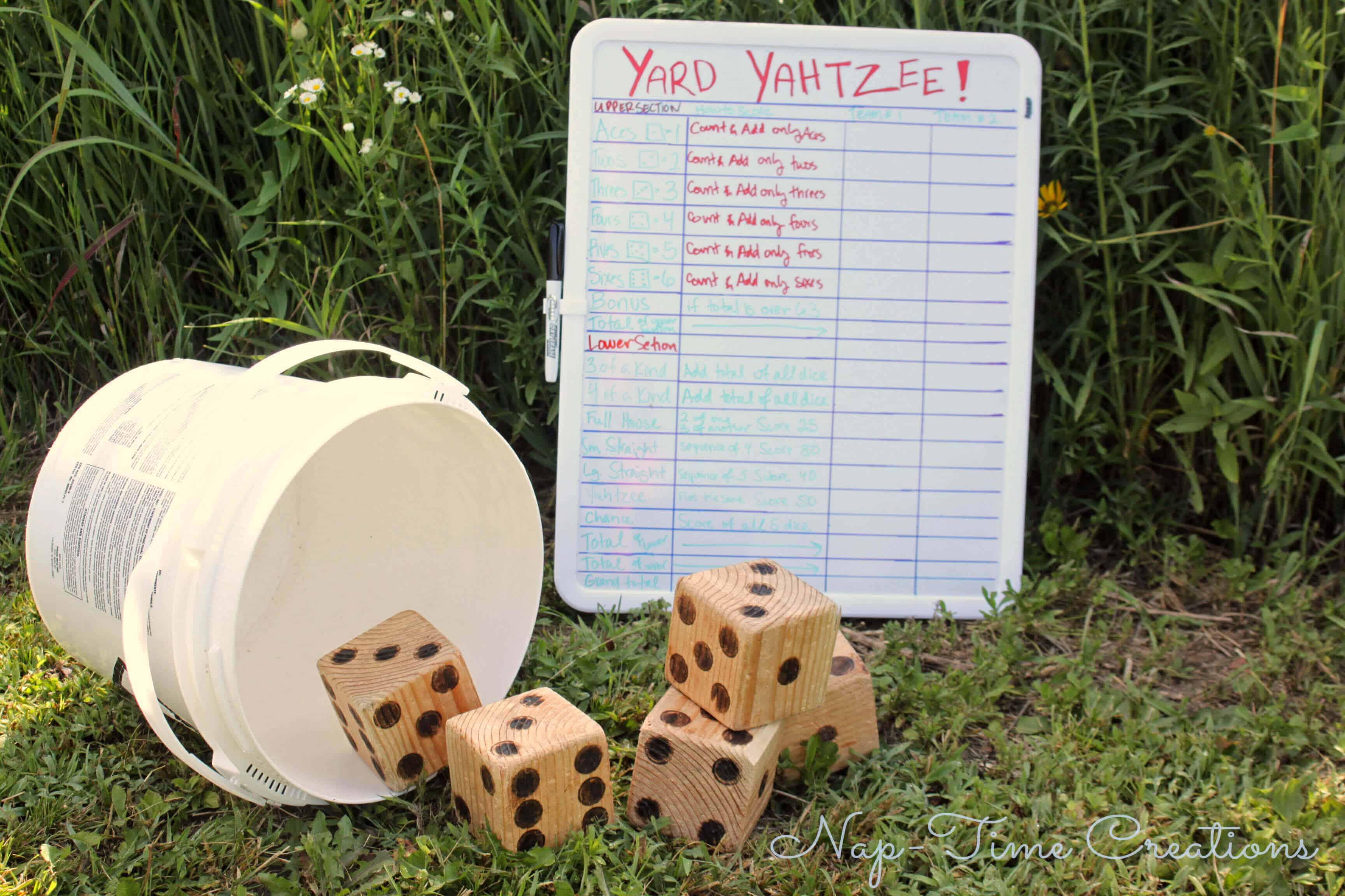 Yard yahtzee diy