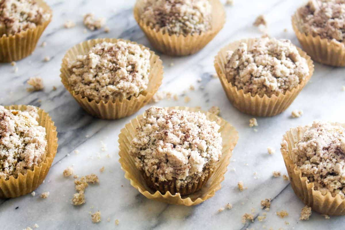 Apple muffins with spiced crumble recipe