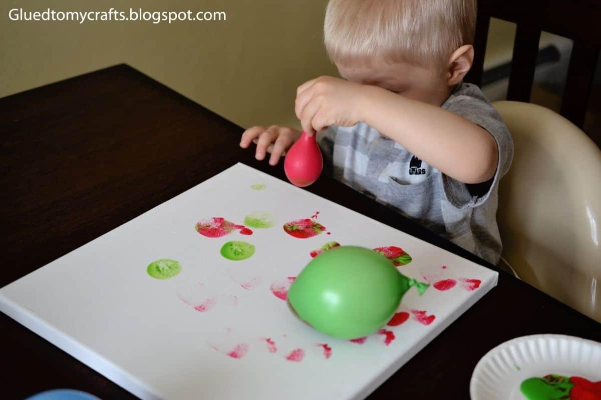 Balloon painting tips