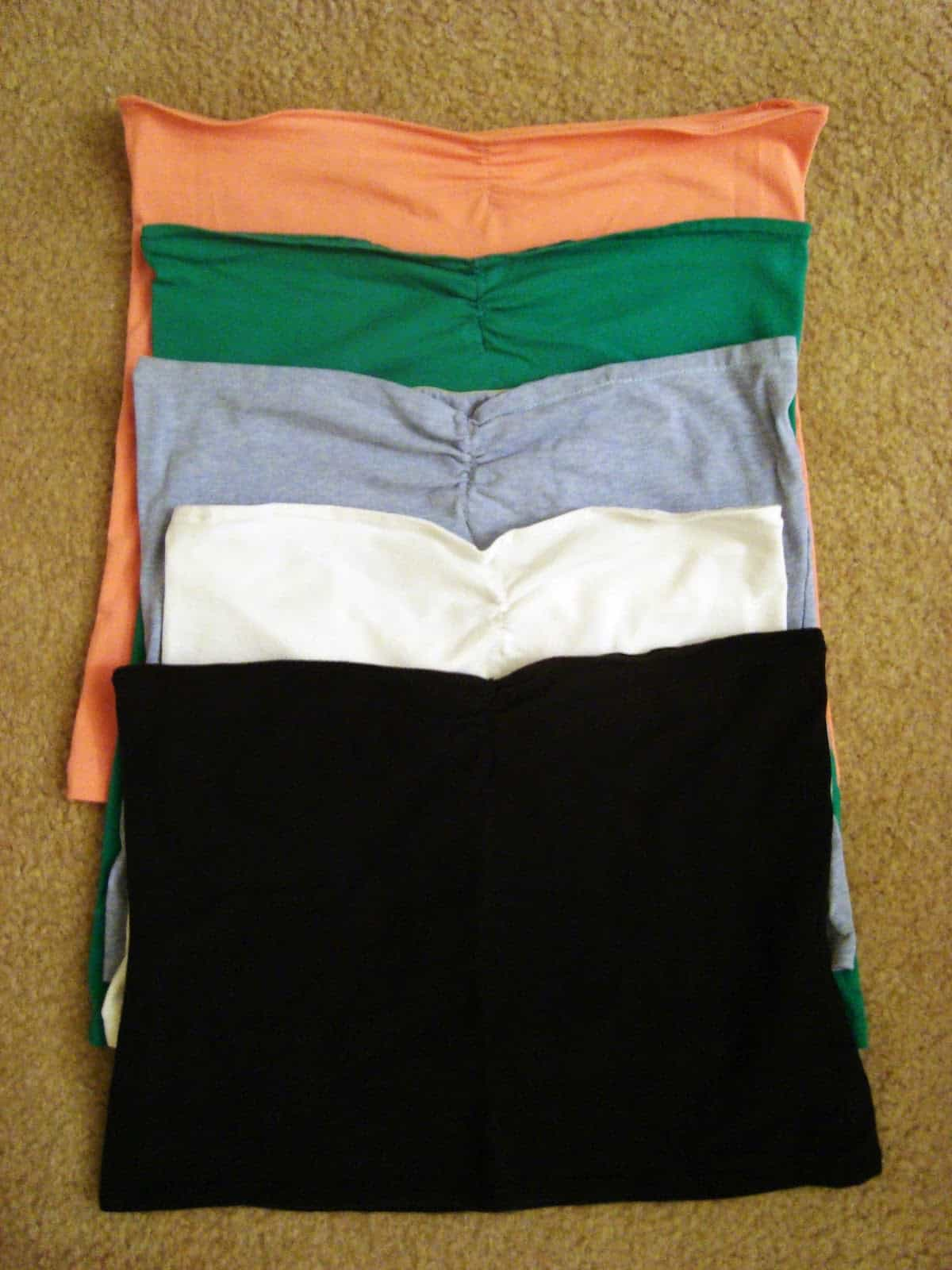 Bandeau tops with length