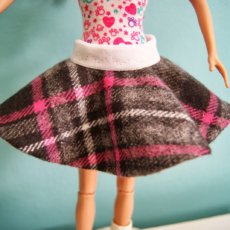 Barbie doll reversbile circle skirt