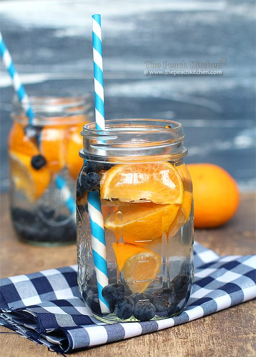 Blueberry orange fruit water