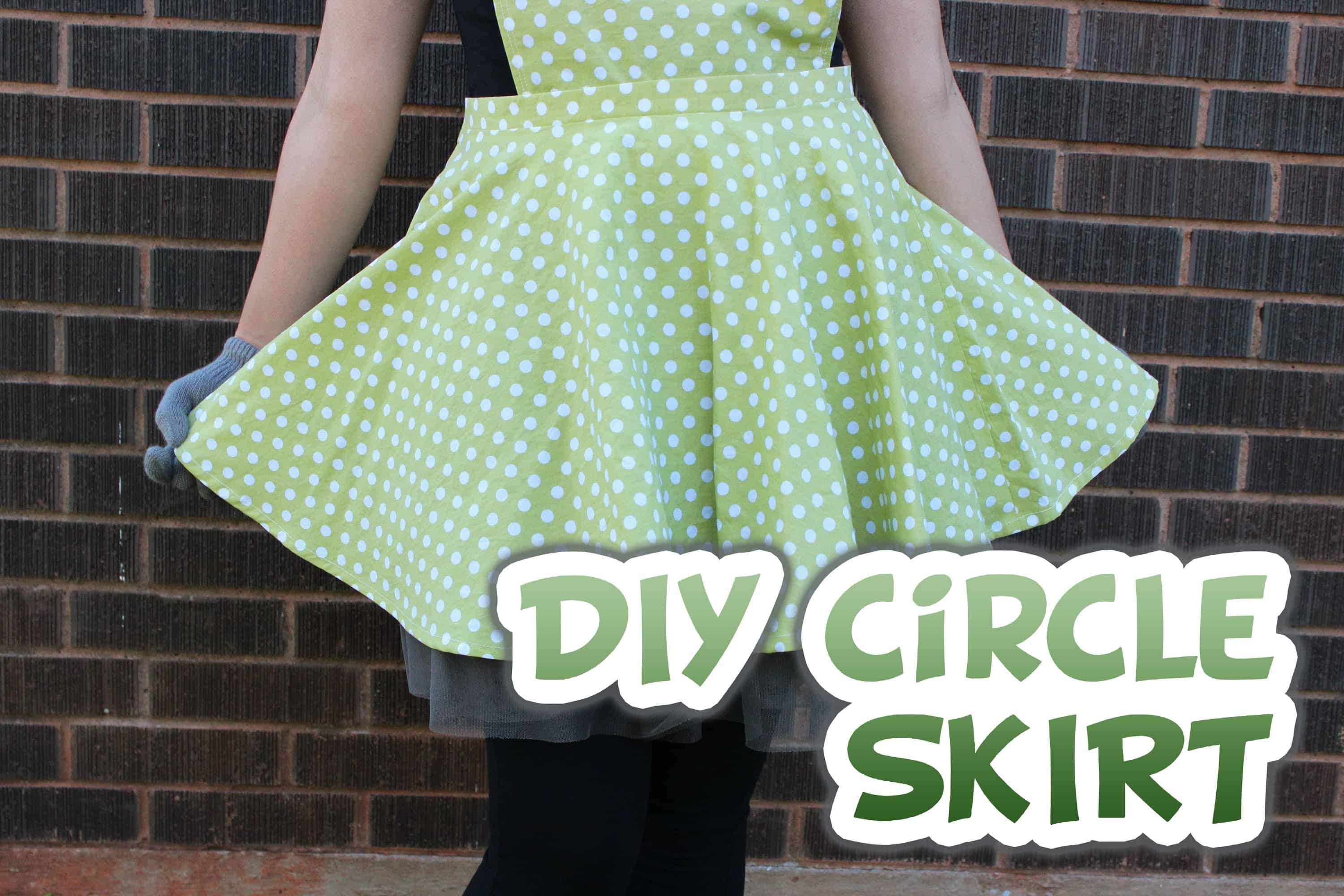 Circle skirt with a zipper