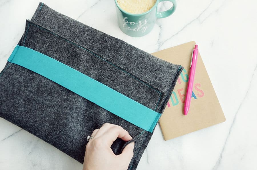Diy felt laptop case top