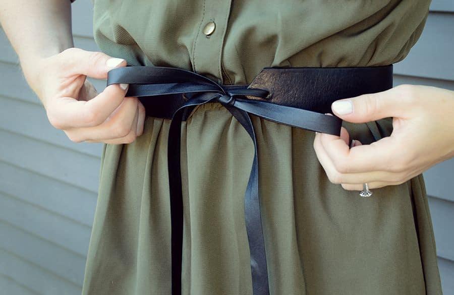 Diy leather tie belt project