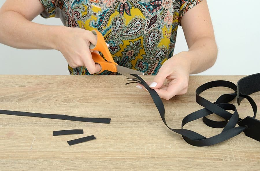 Diy leather tie belt create tassels