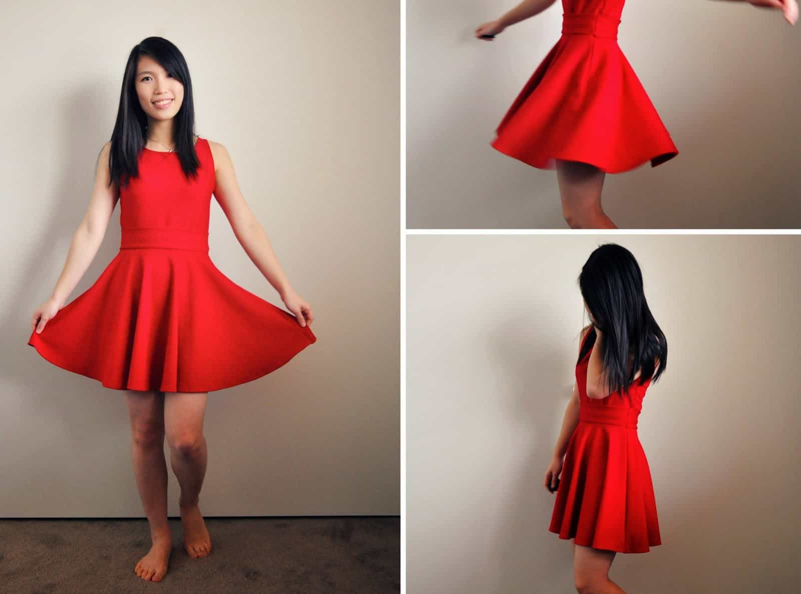 Diy dress with a circle skirt