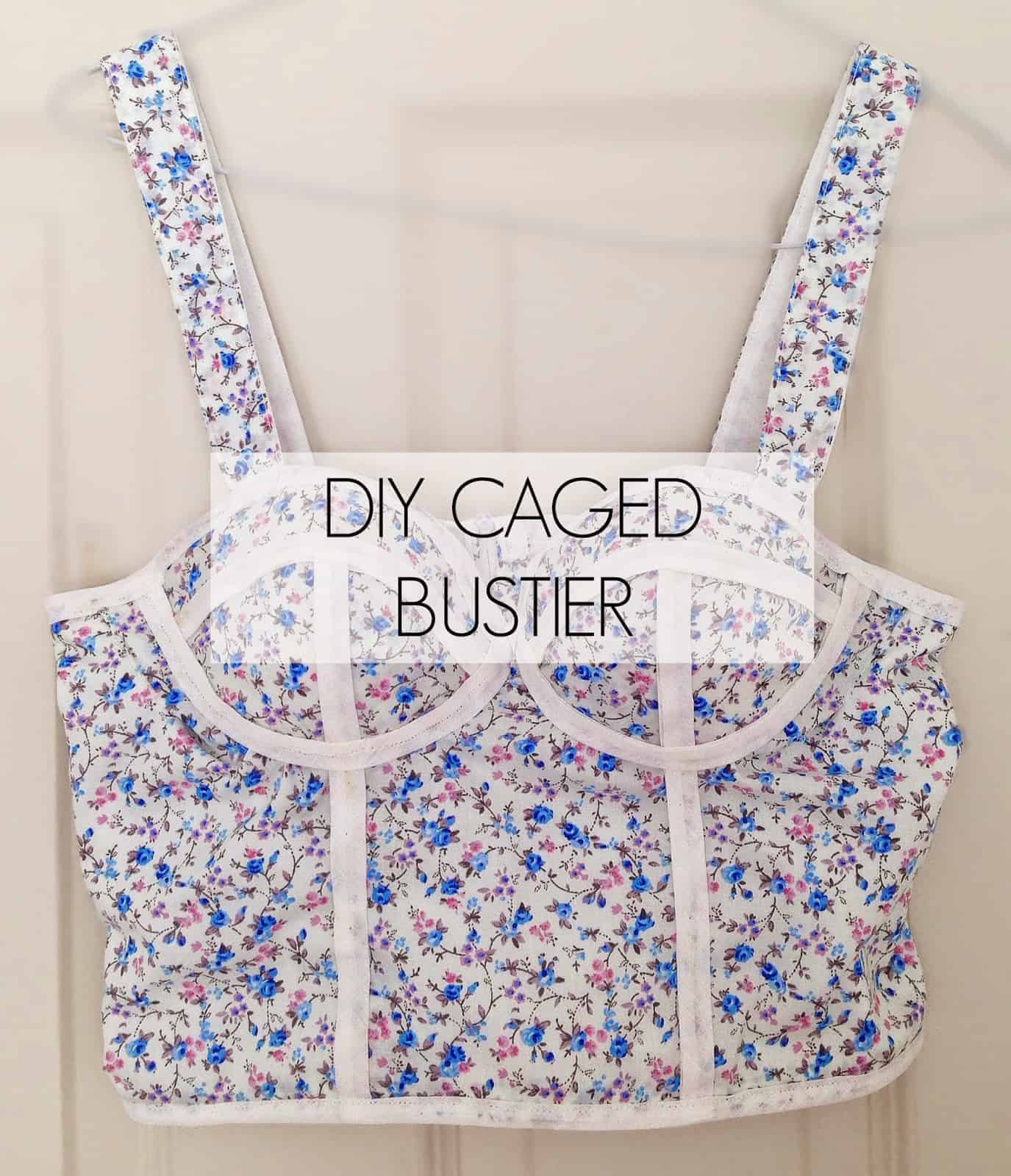 Diy floral caged bustier