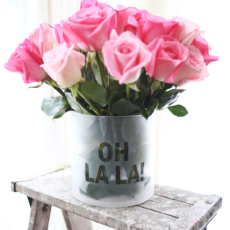 Diy frosted quote flower vase