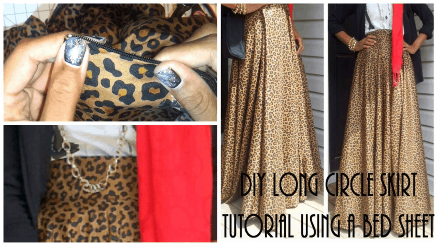 Diy long circle skirt using a bed sheet