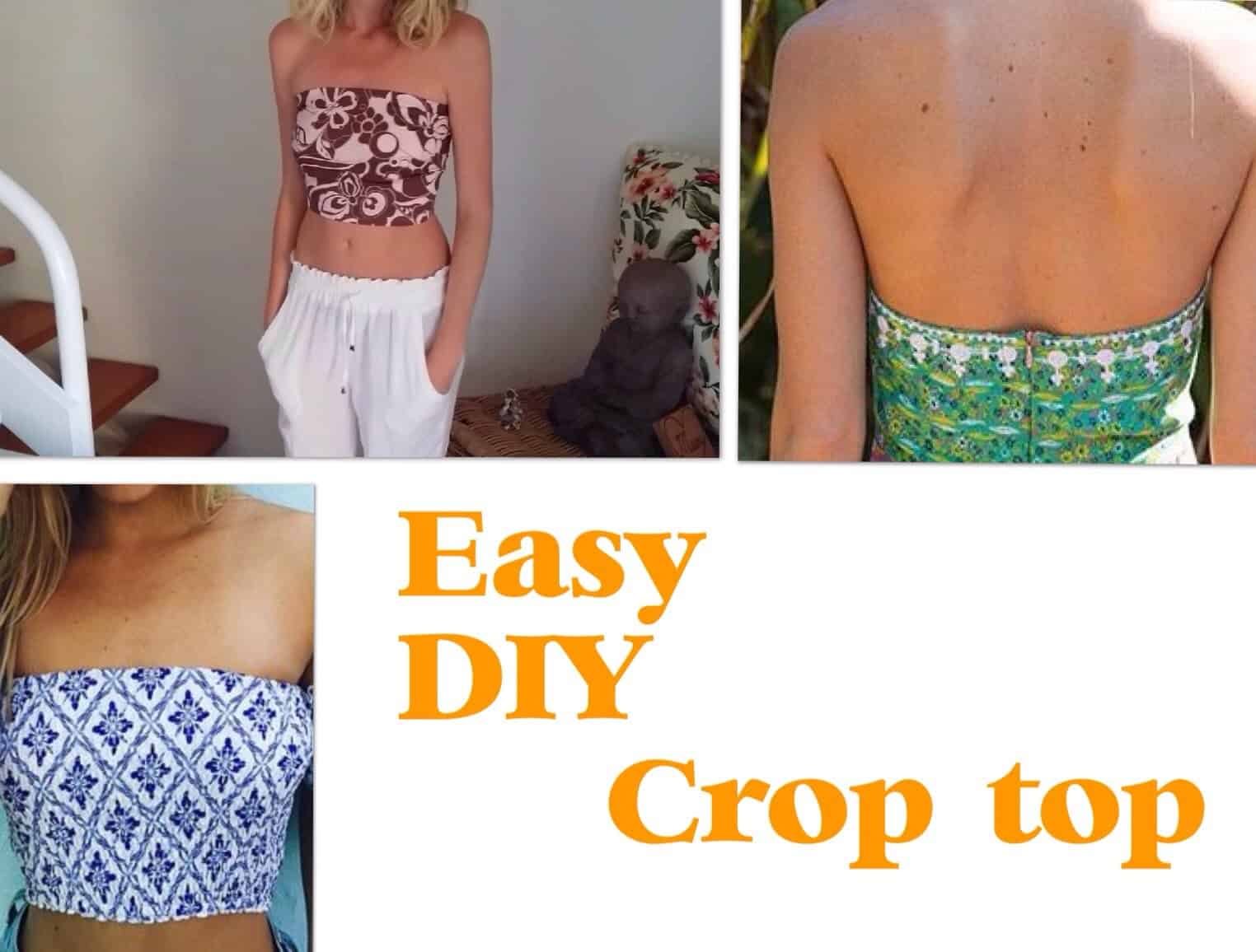 Easy diy bustier with a zipper